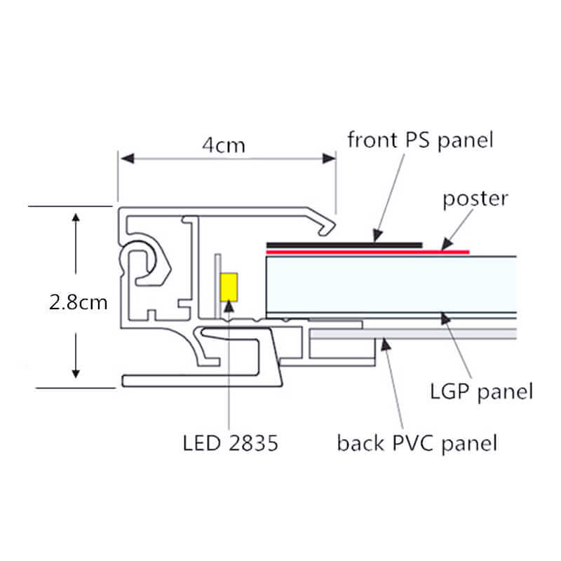 Aluminum Light Box E04A